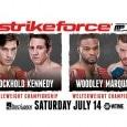 Combat de Luke Rockhold vs. Tim Kennedy lors du Strikeforce du 14-07-2012.